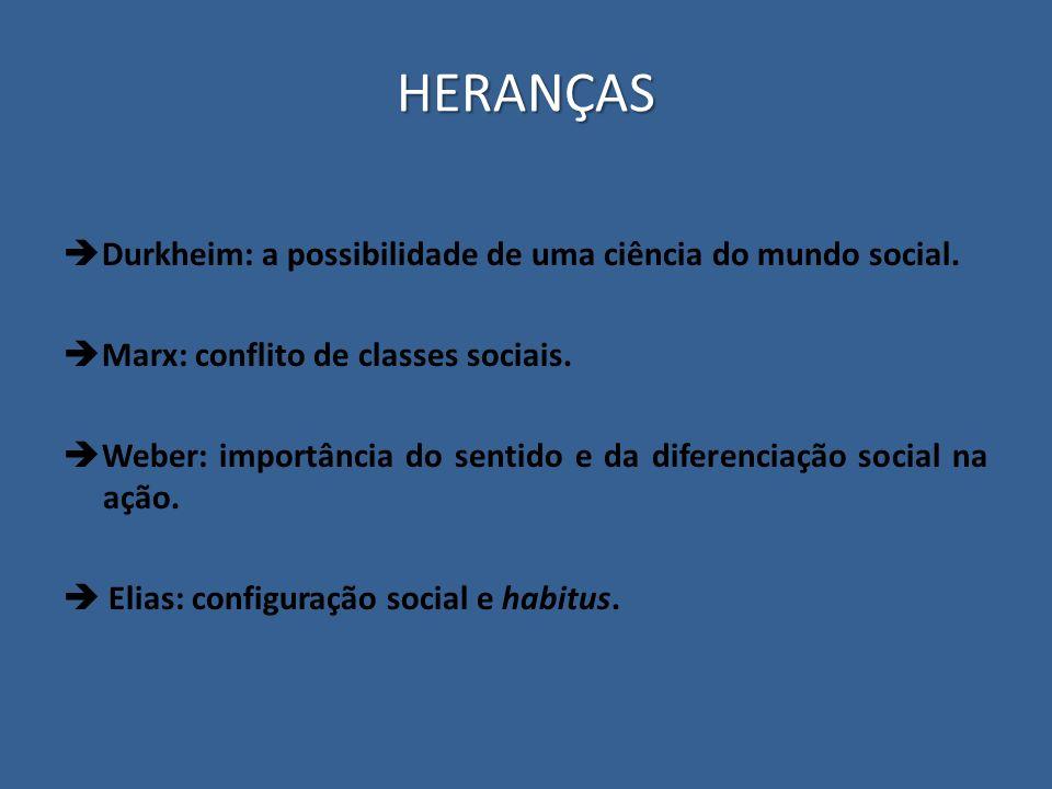 HERANÇAS Durkheim: a possibilidade de uma ciência do mundo social.