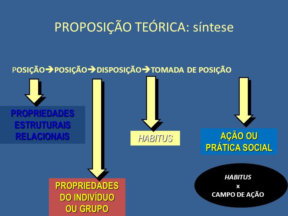 PROPOSIÇÃO TEÓRICA: síntese