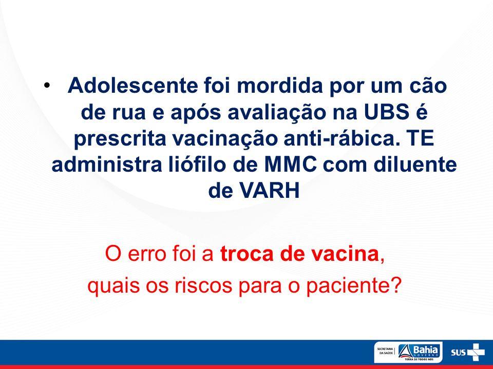 O erro foi a troca de vacina, quais os riscos para o paciente