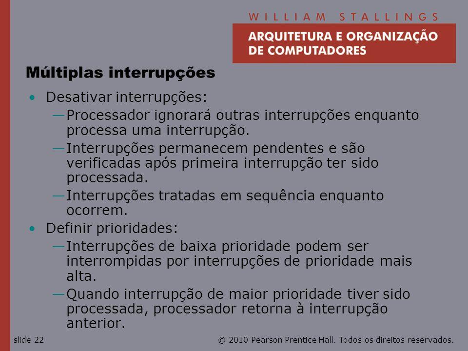 Múltiplas interrupções