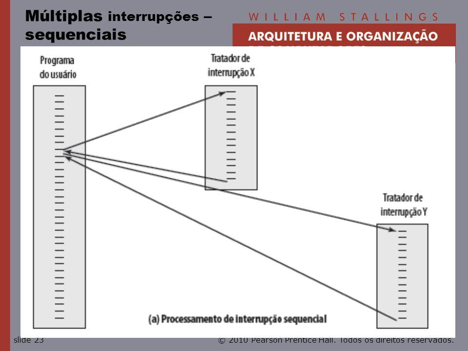 Múltiplas interrupções – sequenciais