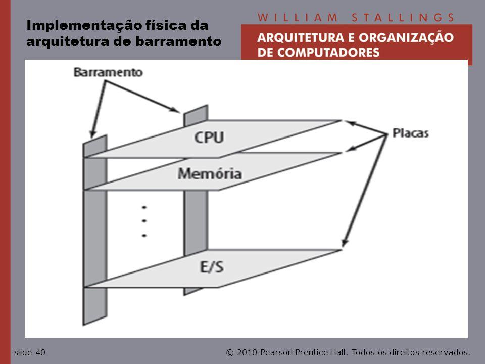 Implementação física da arquitetura de barramento