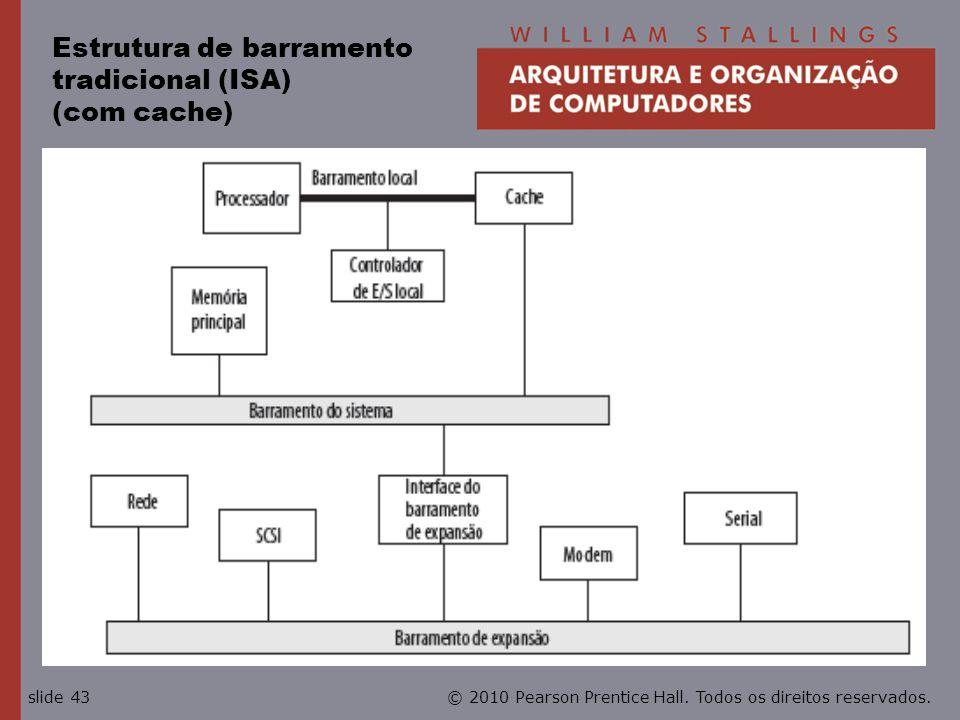 Estrutura de barramento tradicional (ISA) (com cache)