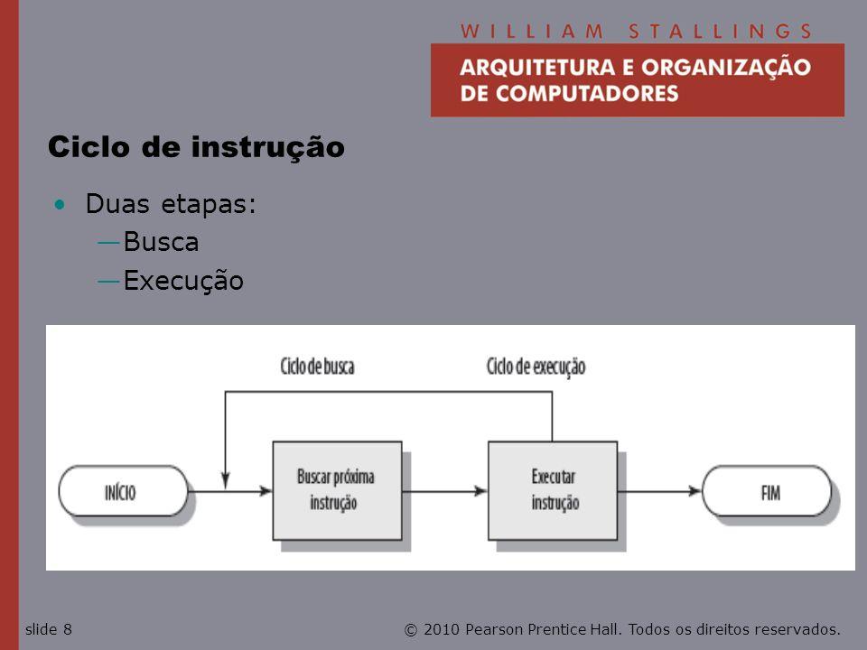 Ciclo de instrução Duas etapas: Busca Execução