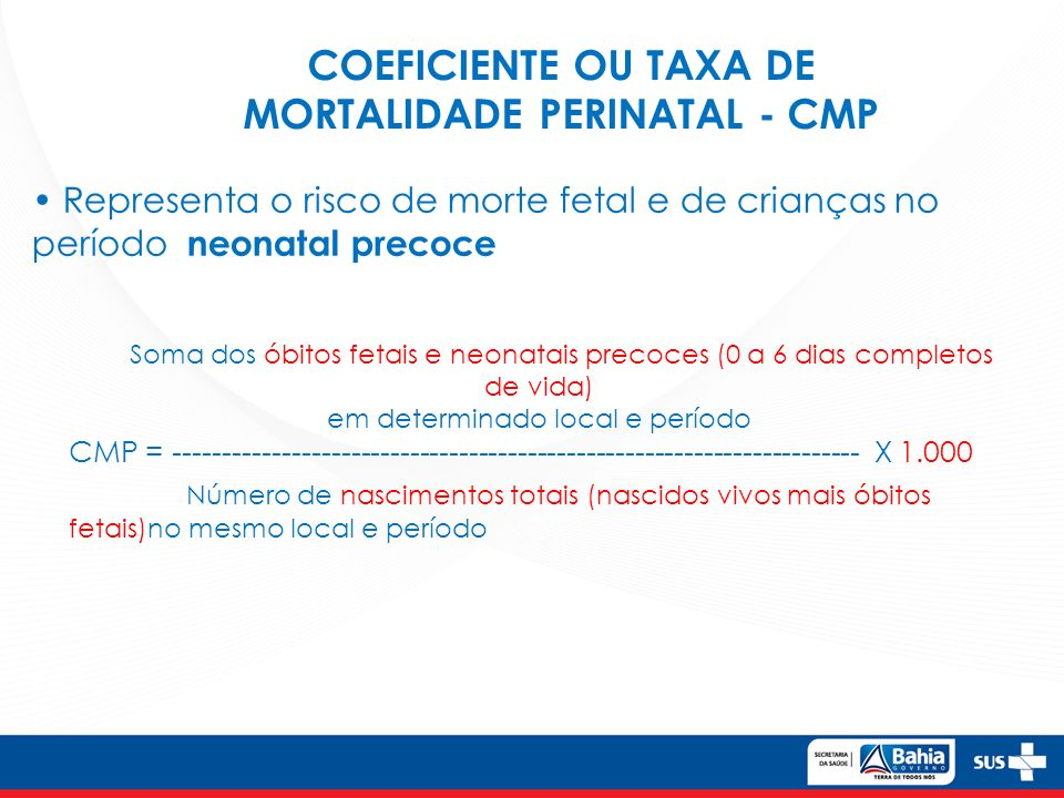 MORTALIDADE PERINATAL - CMP