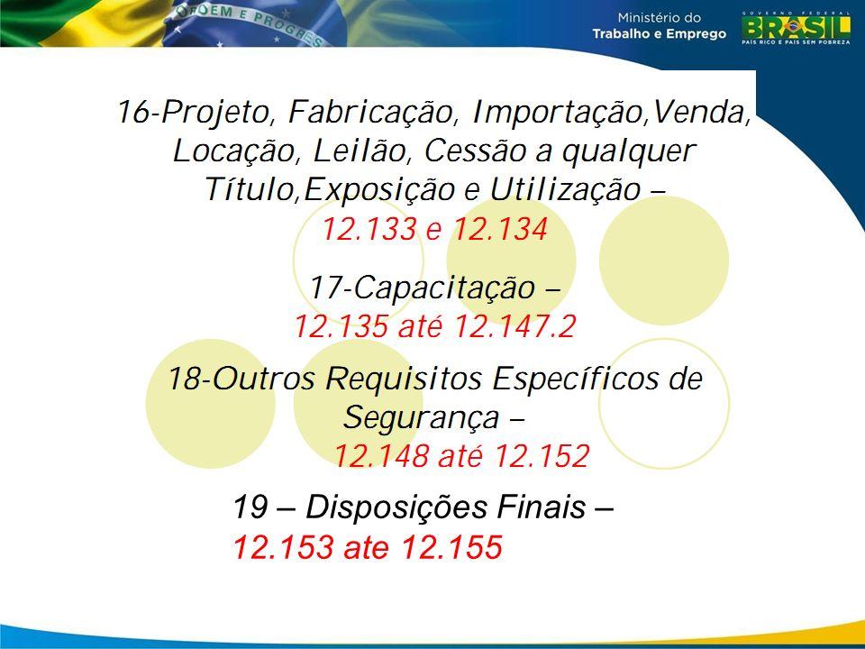19 – Disposições Finais – 12.153 ate 12.155