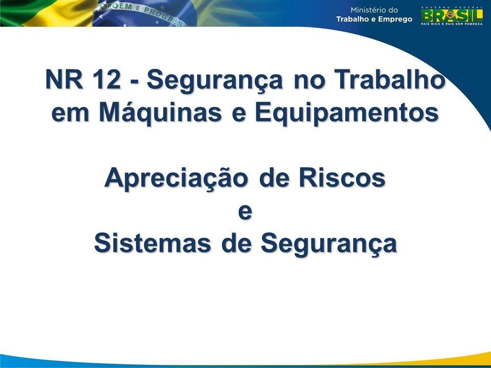 NR 12 - Segurança no Trabalho em Máquinas e Equipamentos Apreciação de Riscos e Sistemas de Segurança