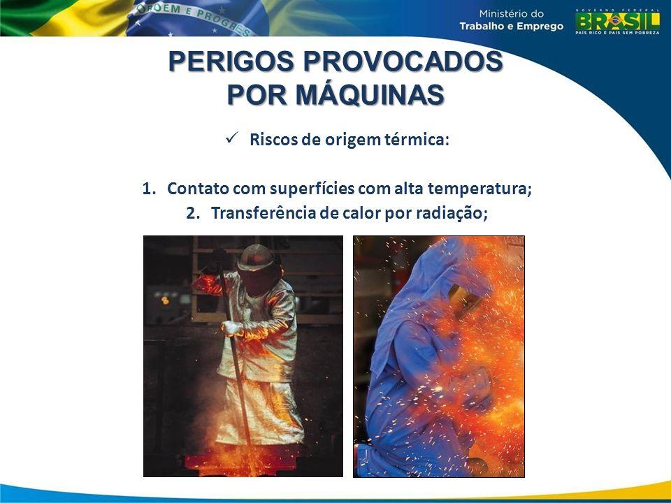 PERIGOS PROVOCADOS POR MÁQUINAS