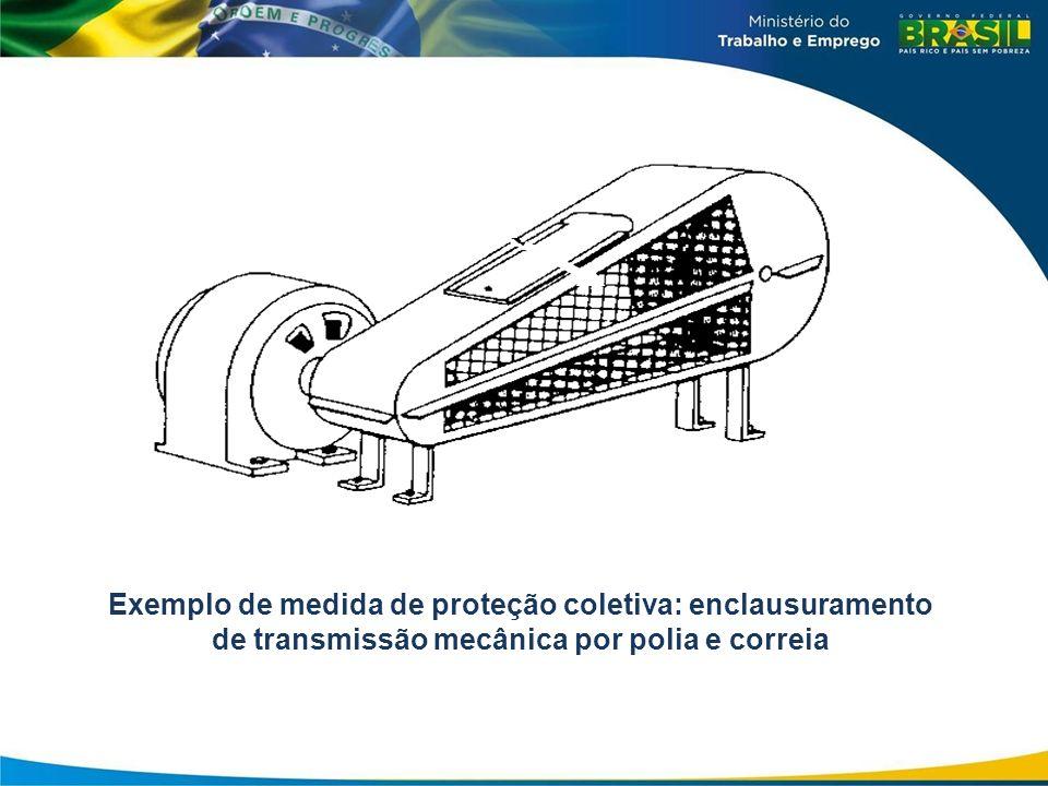 09/04/12Exemplo de medida de proteção coletiva: enclausuramento de transmissão mecânica por polia e correia.