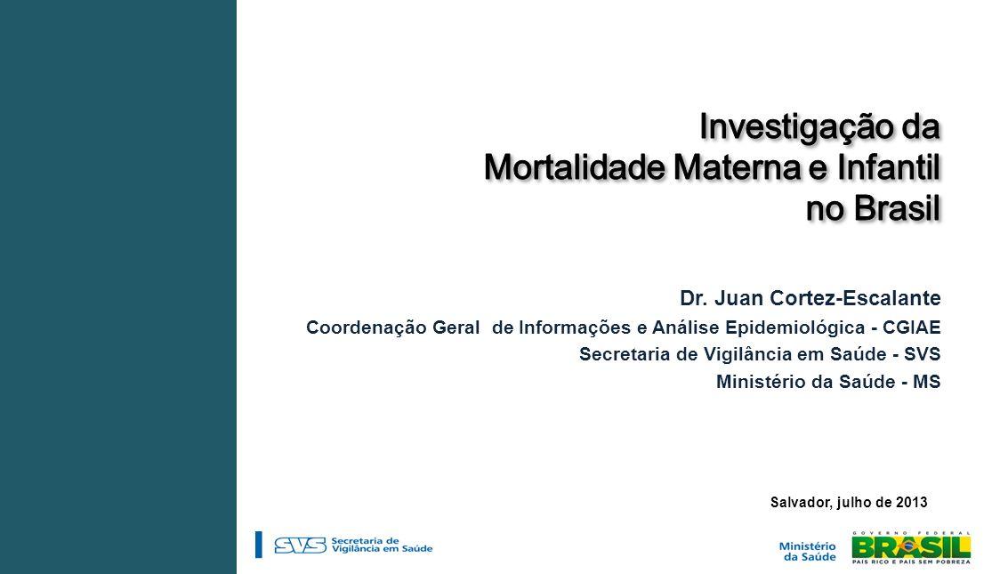 Investigação da Mortalidade Materna e Infantil no Brasil