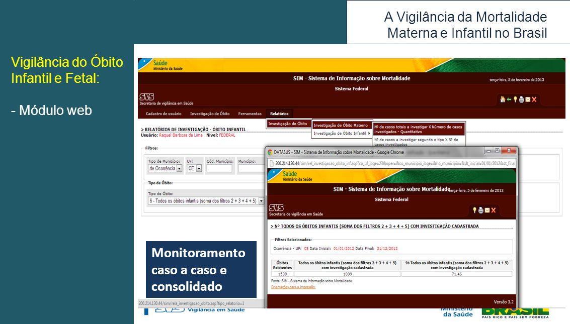 Monitoramento caso a caso e consolidado
