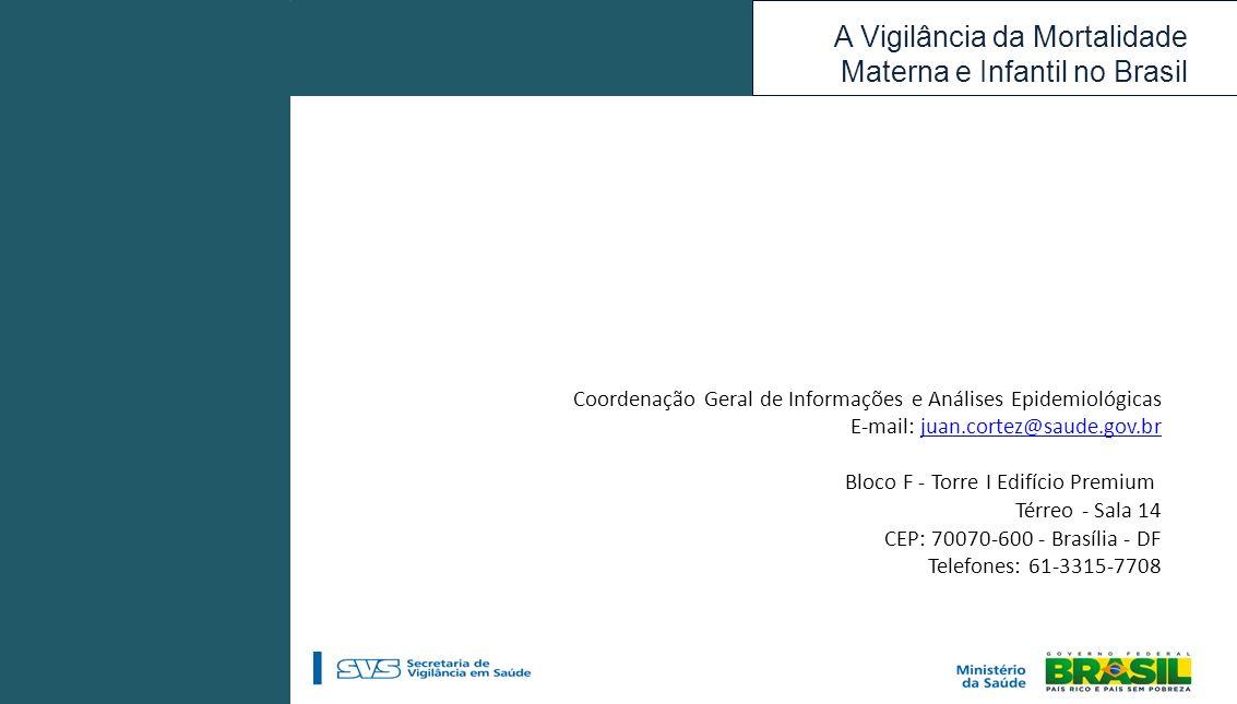 Coordenação Geral de Informações e Análises Epidemiológicas
