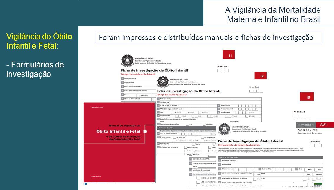 Foram impressos e distribuídos manuais e fichas de investigação