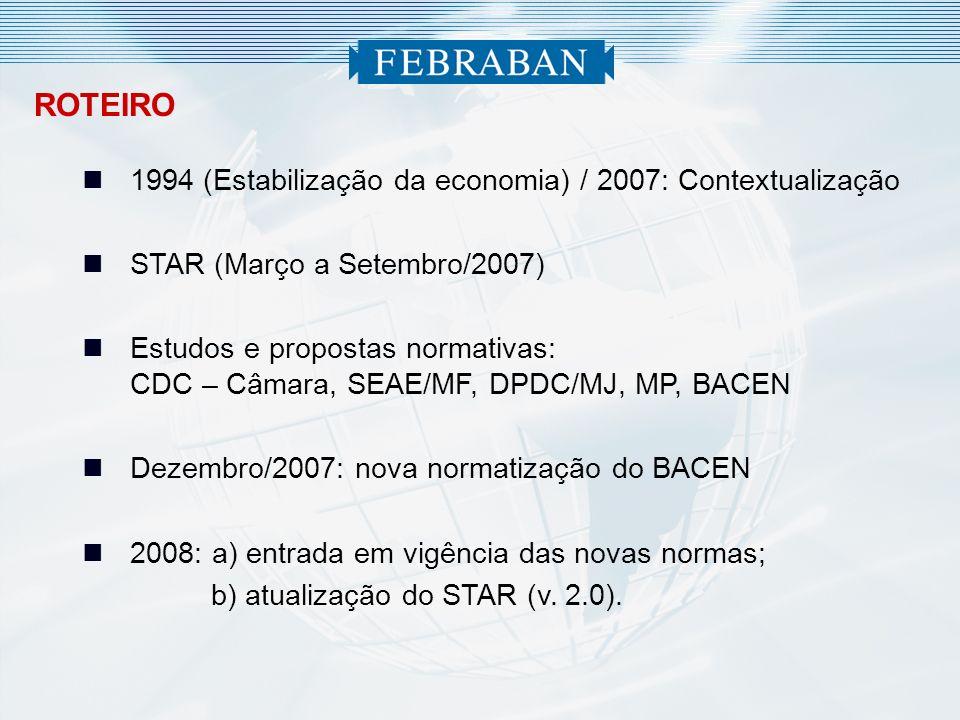 ROTEIRO 1994 (Estabilização da economia) / 2007: Contextualização