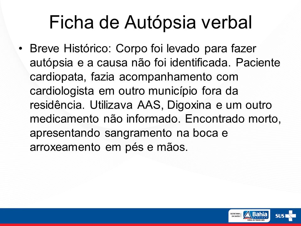 Ficha de Autópsia verbal