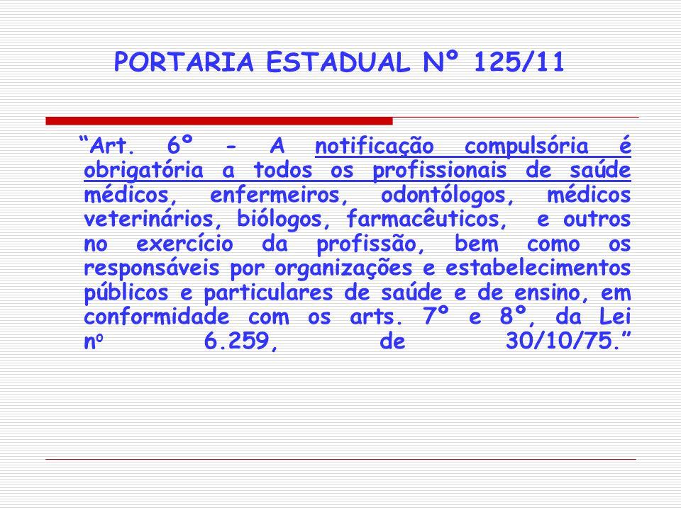 PORTARIA ESTADUAL Nº 125/11