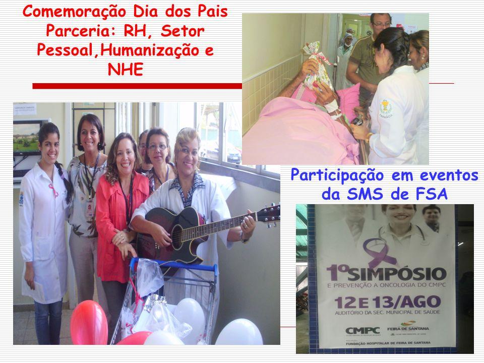Comemoração Dia dos Pais Parceria: RH, Setor Pessoal,Humanização e NHE
