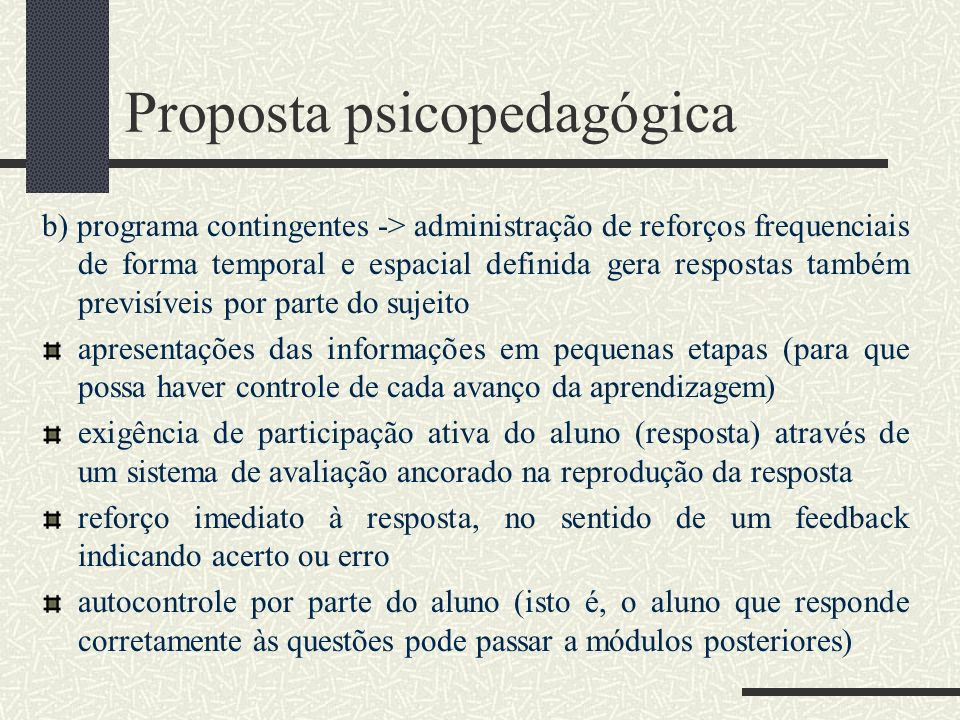 Proposta psicopedagógica