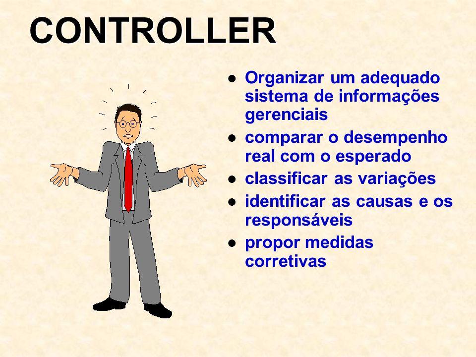 CONTROLLER Organizar um adequado sistema de informações gerenciais