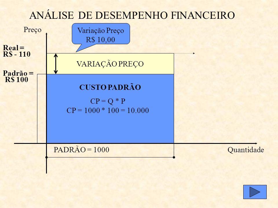 ANÁLISE DE DESEMPENHO FINANCEIRO