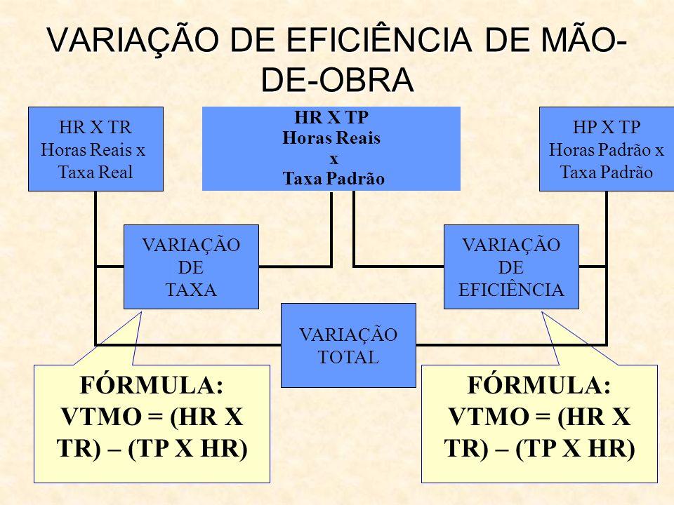 VARIAÇÃO DE EFICIÊNCIA DE MÃO-DE-OBRA