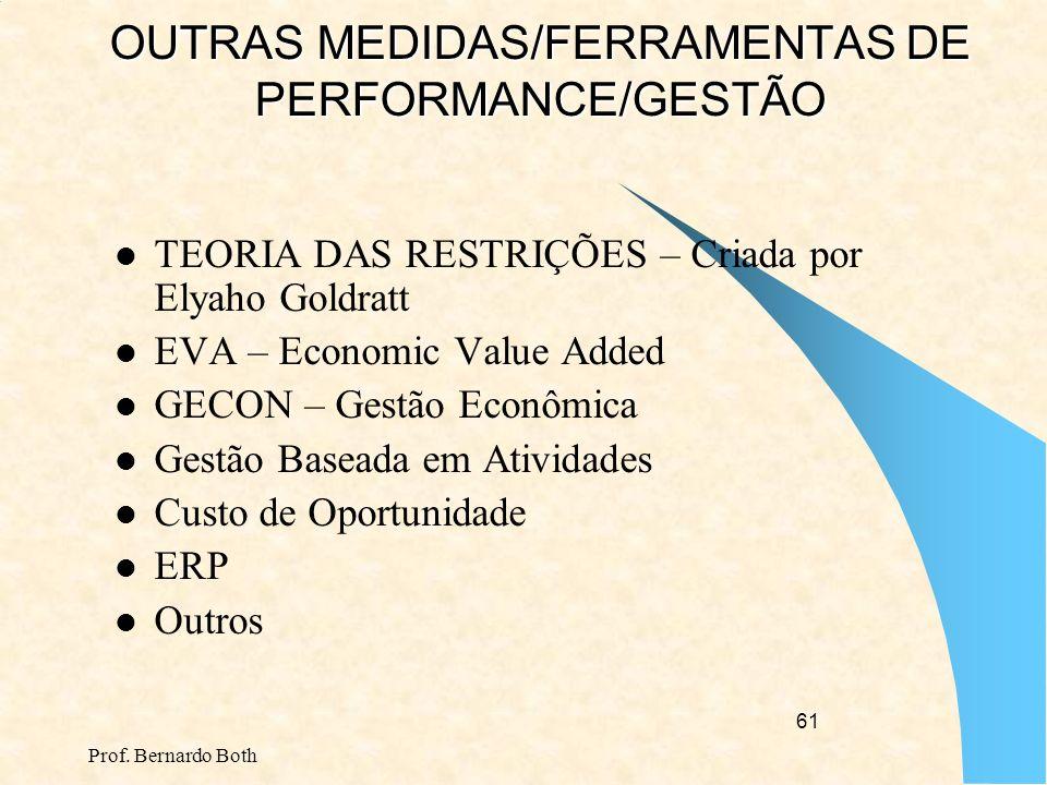 OUTRAS MEDIDAS/FERRAMENTAS DE PERFORMANCE/GESTÃO