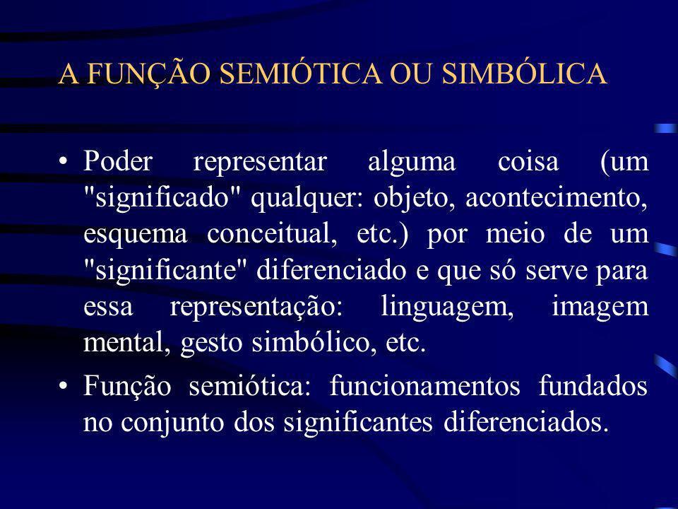 A FUNÇÃO SEMIÓTICA OU SIMBÓLICA
