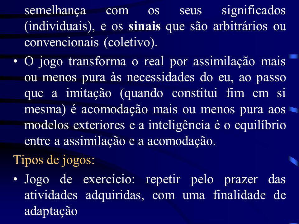semelhança com os seus significados (individuais), e os sinais que são arbitrários ou convencionais (coletivo).