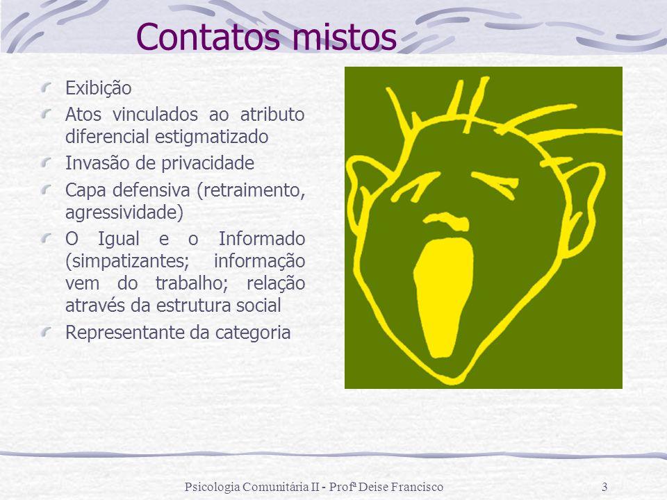 Psicologia Comunitária II - Profª Deise Francisco