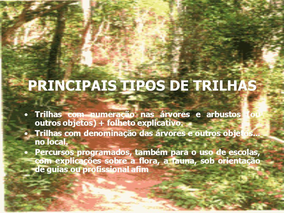 PRINCIPAIS TIPOS DE TRILHAS
