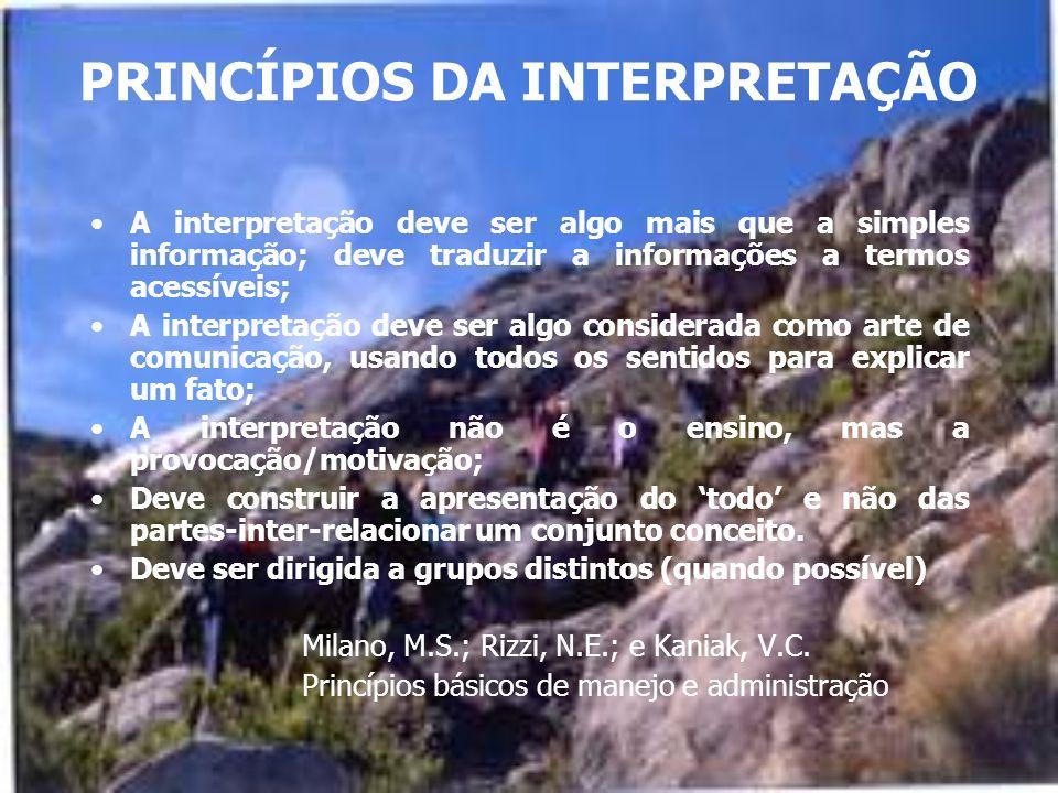 PRINCÍPIOS DA INTERPRETAÇÃO
