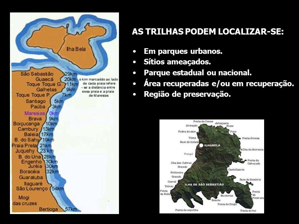 AS TRILHAS PODEM LOCALIZAR-SE: