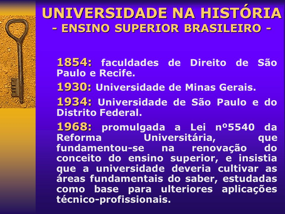 UNIVERSIDADE NA HISTÓRIA - ENSINO SUPERIOR BRASILEIRO -