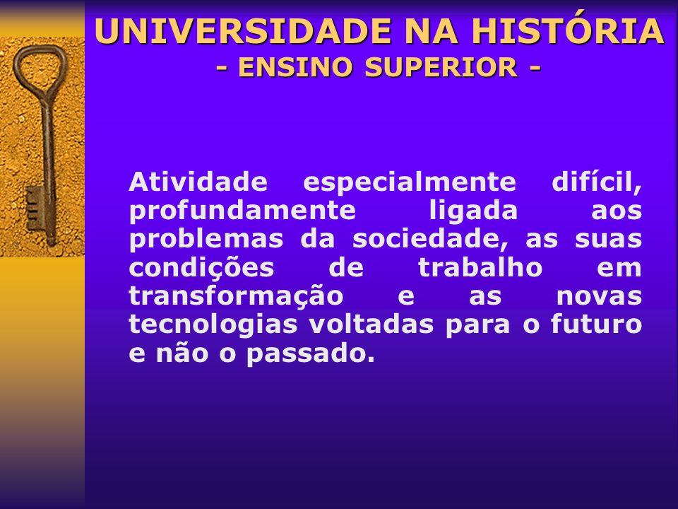 UNIVERSIDADE NA HISTÓRIA - ENSINO SUPERIOR -