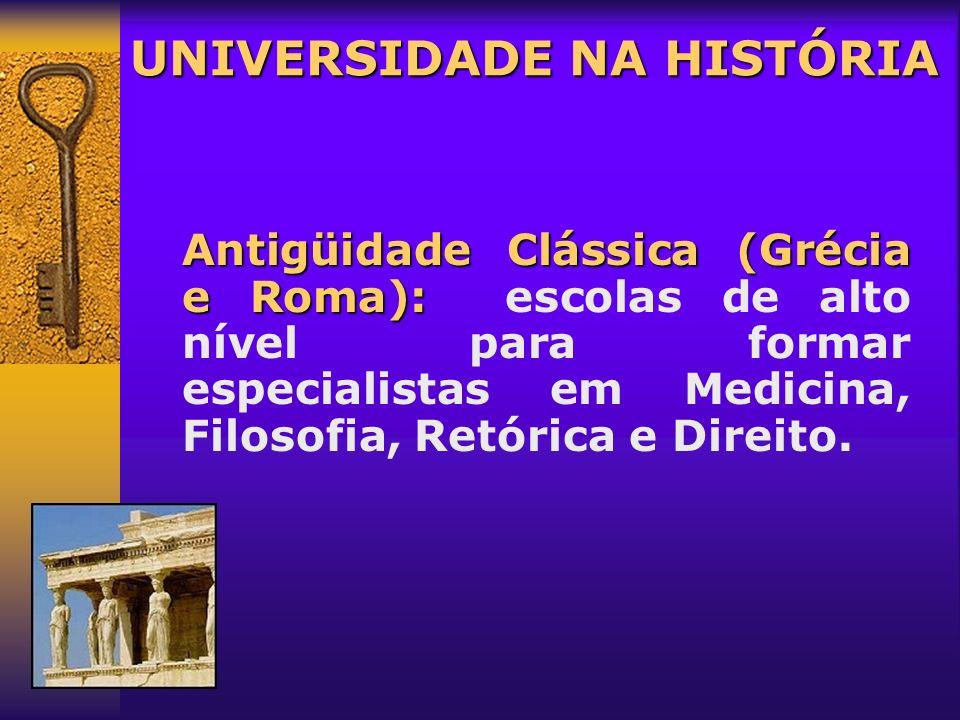 UNIVERSIDADE NA HISTÓRIA