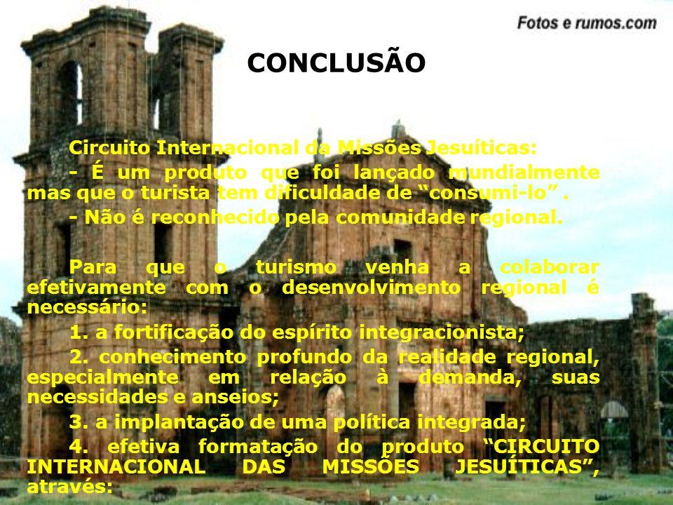CONCLUSÃO Circuito Internacional da Missões Jesuíticas: