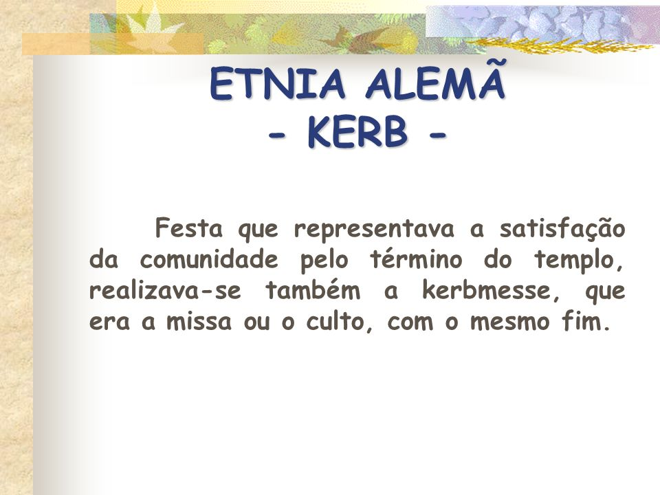 ETNIA ALEMÃ - KERB -