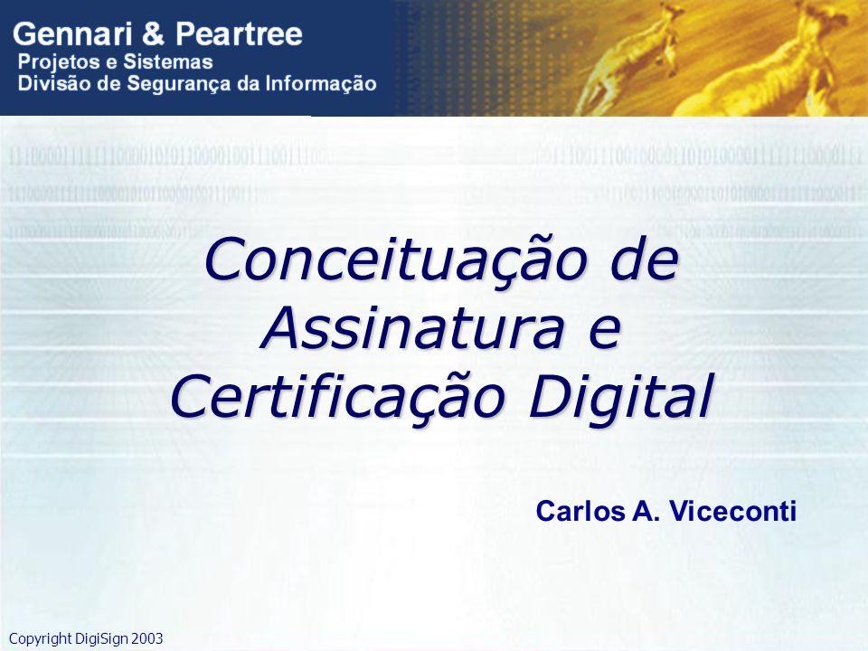 Conceituação de Assinatura e Certificação Digital