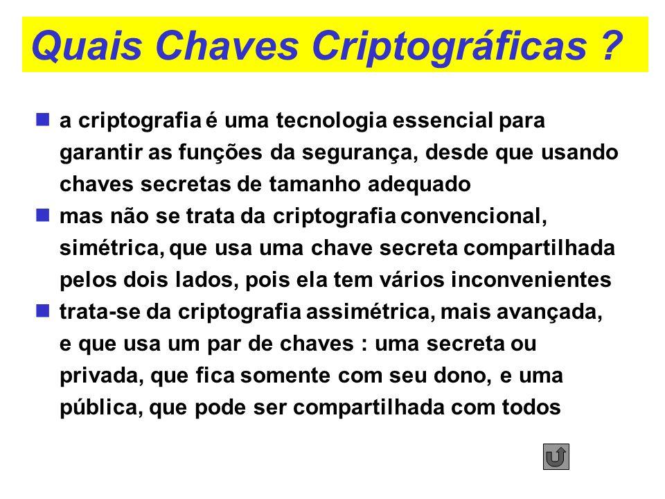 Quais Chaves Criptográficas