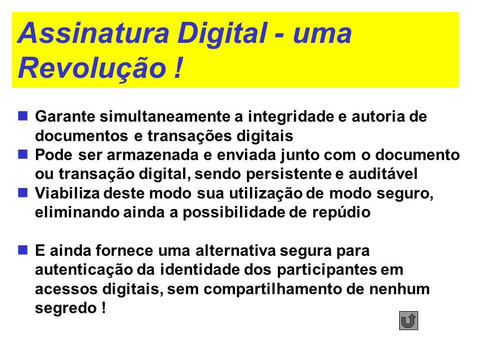 Assinatura Digital - uma Revolução !