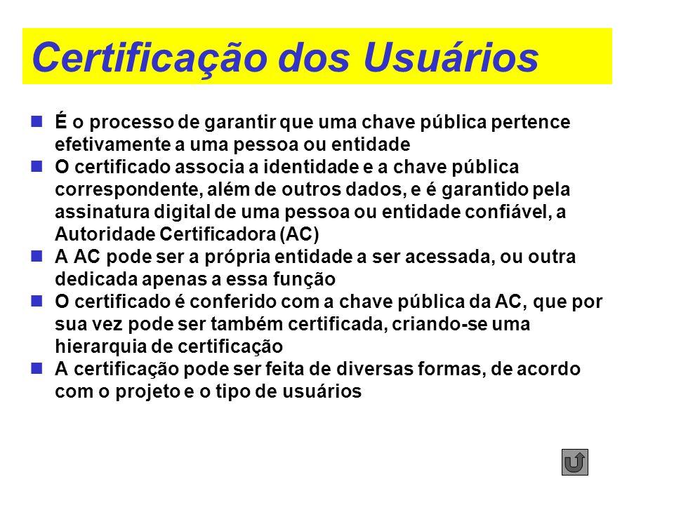 Certificação dos Usuários