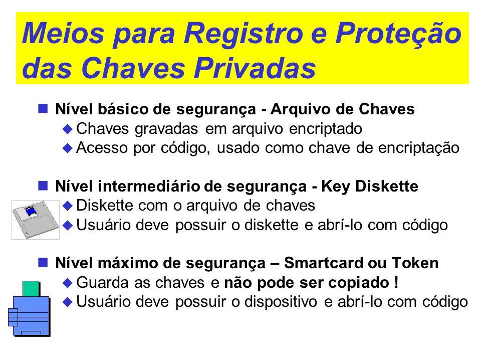 Meios para Registro e Proteção das Chaves Privadas