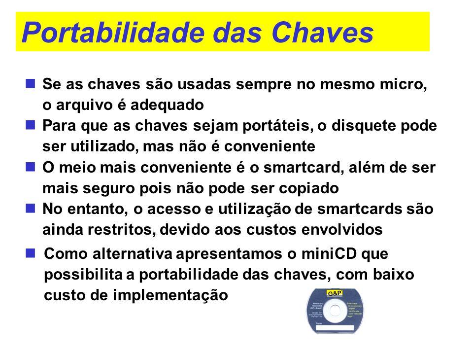 Portabilidade das Chaves