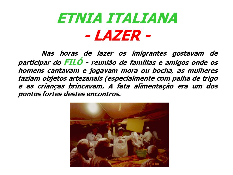 ETNIA ITALIANA - LAZER -
