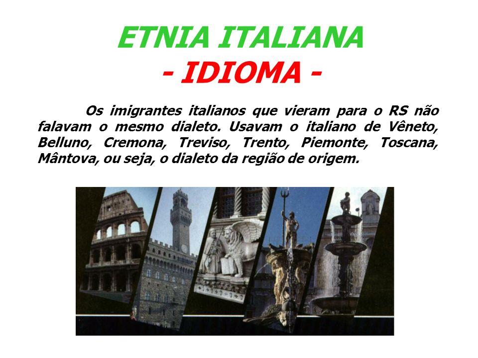 ETNIA ITALIANA - IDIOMA -