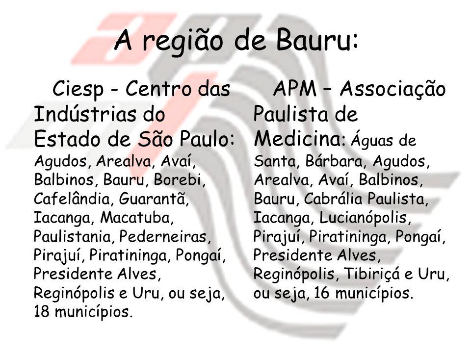 A região de Bauru: