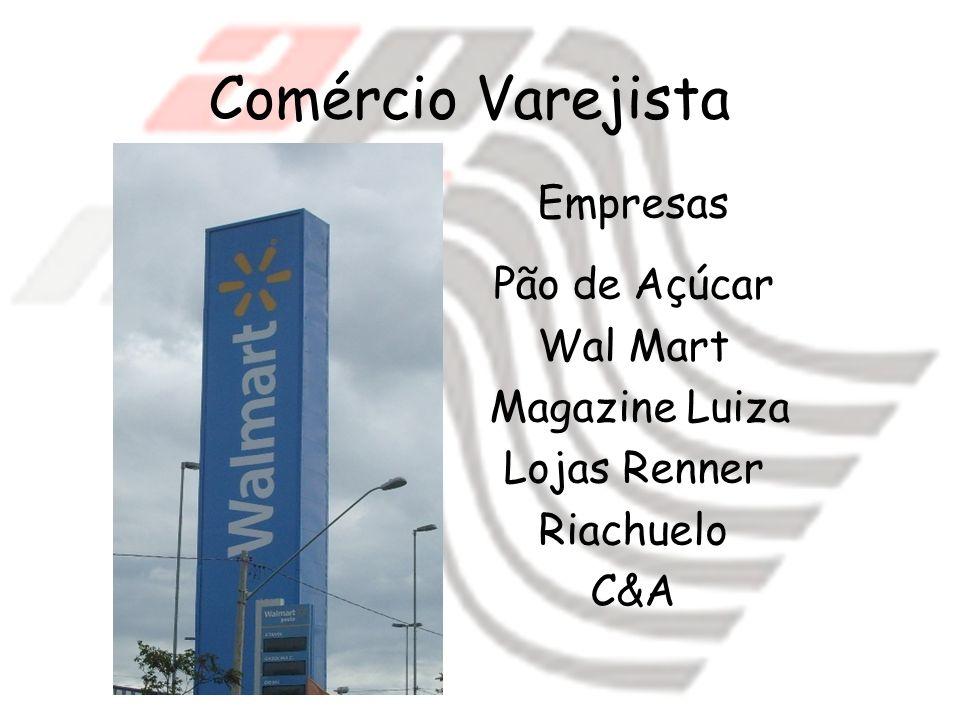 Comércio Varejista Empresas Pão de Açúcar Wal Mart Magazine Luiza Lojas Renner Riachuelo C&A