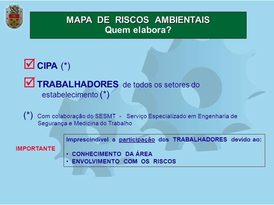 MAPA DE RISCOS AMBIENTAIS Quem elabora