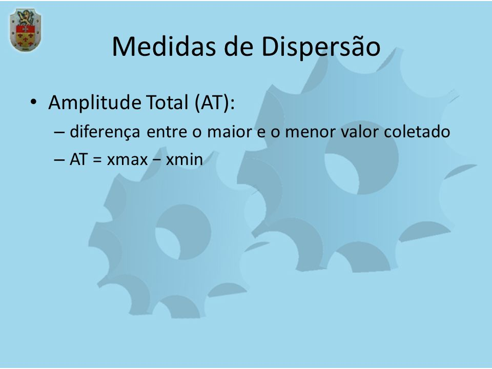 Medidas de Dispersão Amplitude Total (AT):
