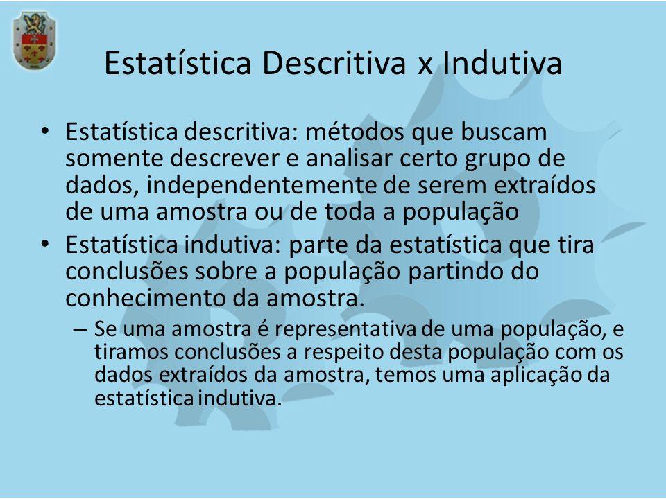 Estatística Descritiva x Indutiva